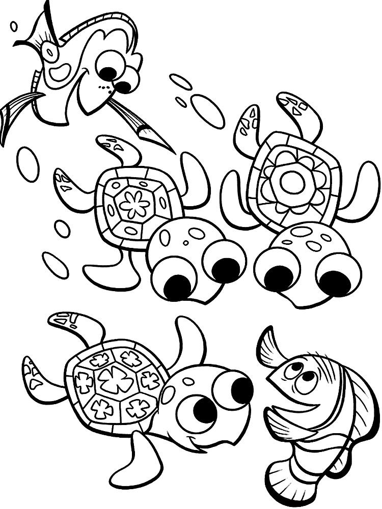 Buscando a nemo dibujos infantiles para colorear for Immagini nemo da stampare