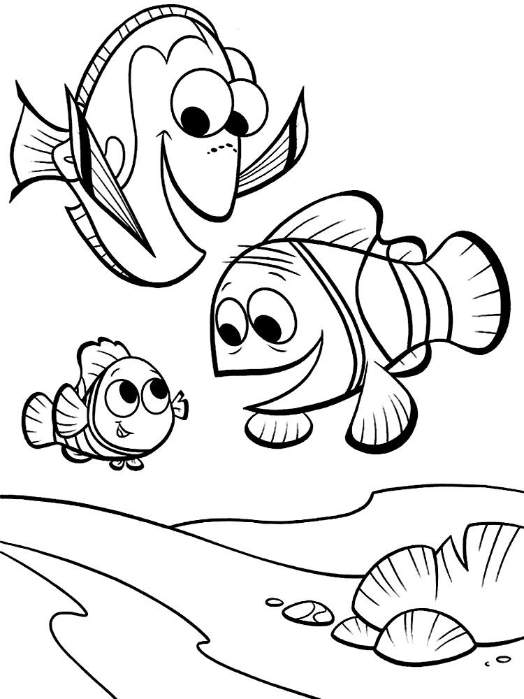 Buscando a Nemo – dibujos infantiles para colorear