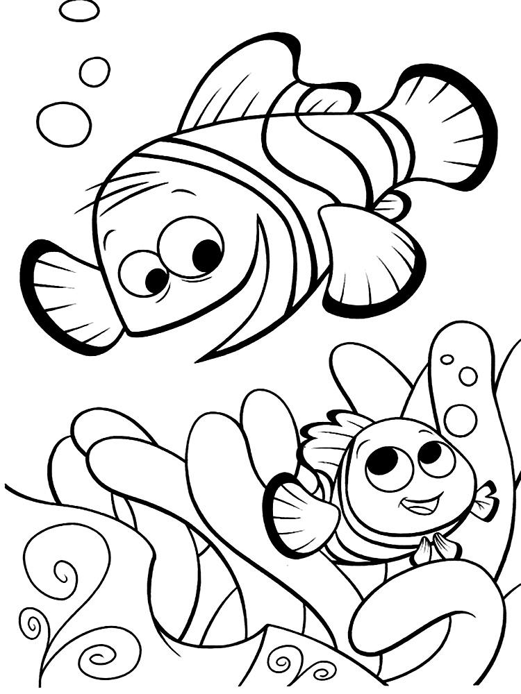 Buscando a Nemo – descargar gratis dibujos para colorear.