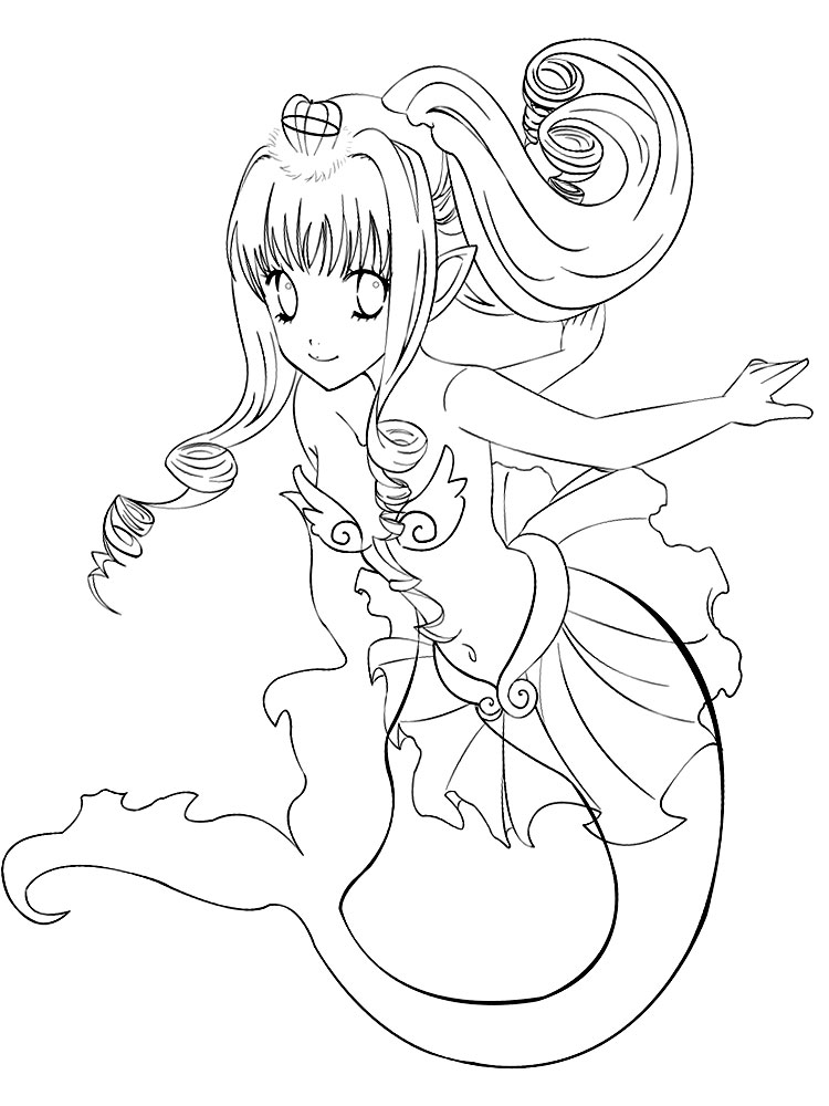 Anime Cat Chibi Coloring Pages