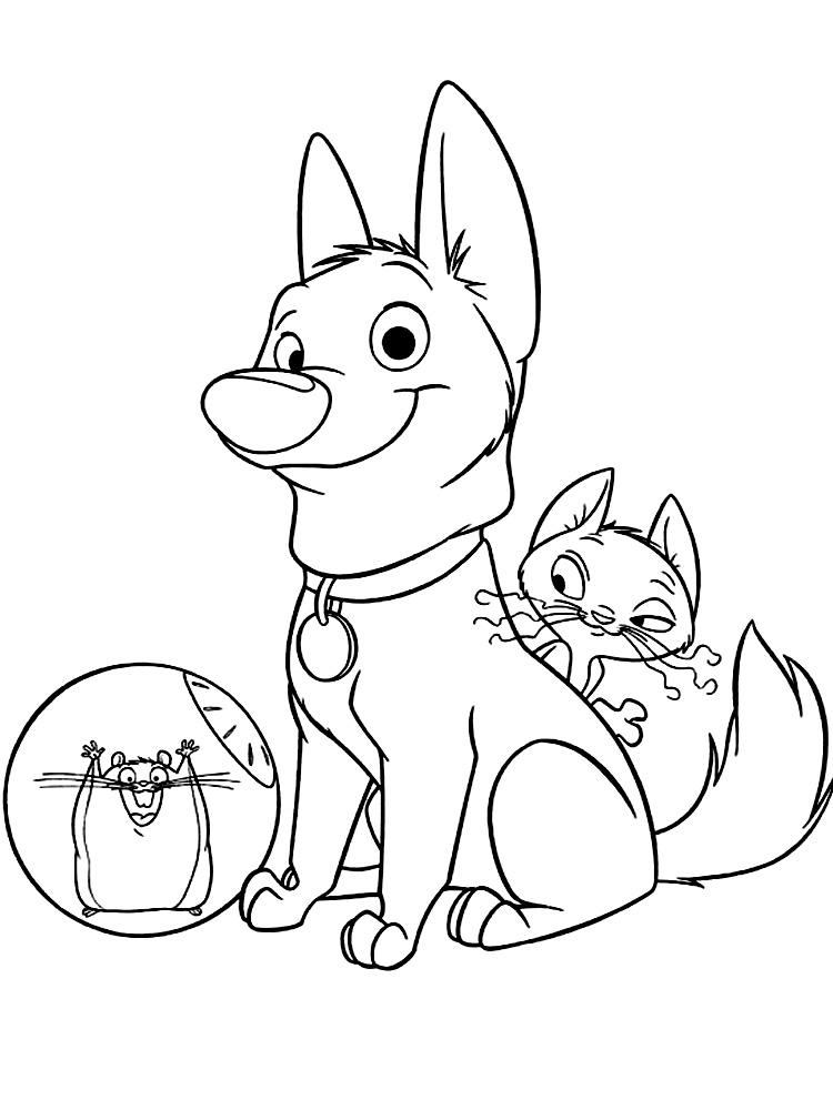 Image Of Dibujos Para Colorear Bolt Disney Bolt Dibujos para ...