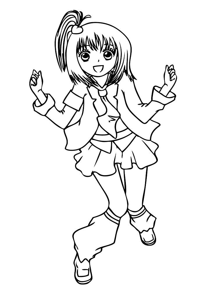 Imprimir dibujos para colorear – anime, para niños y niñas