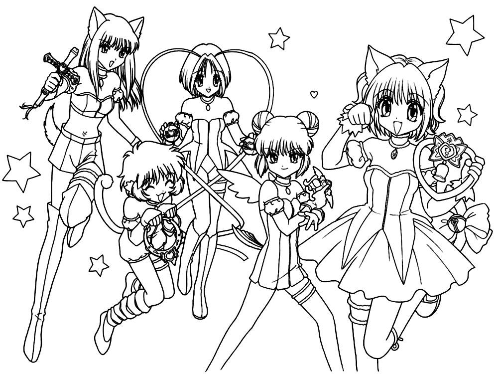 Dibujos para colorear – anime, imprimir gratis