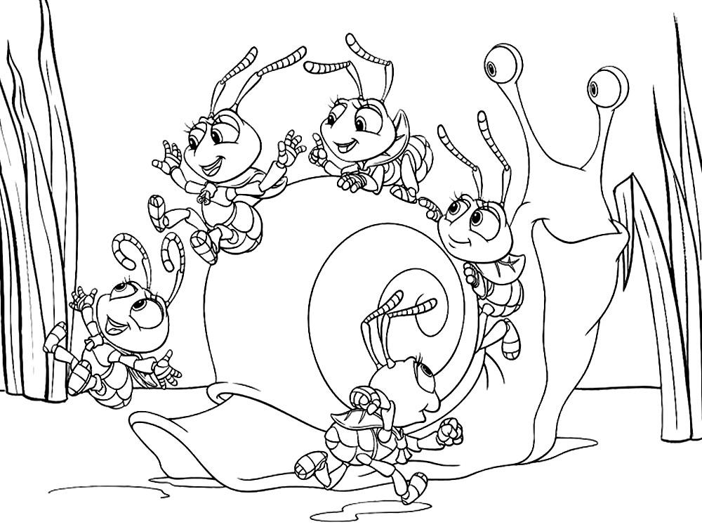 Dibujos para colorear – Bichos una aventura en miniatura, para un ...