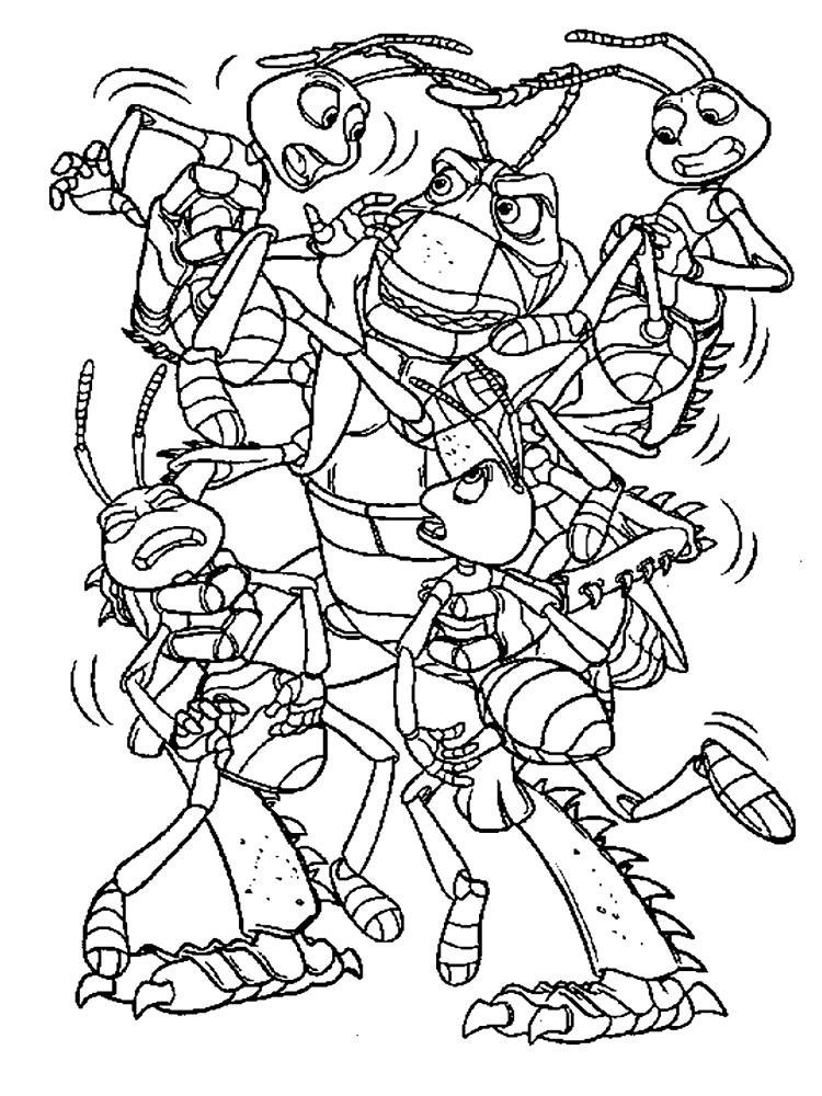Dibujos para colorear – Bichos una aventura en miniatura, imprimir ...