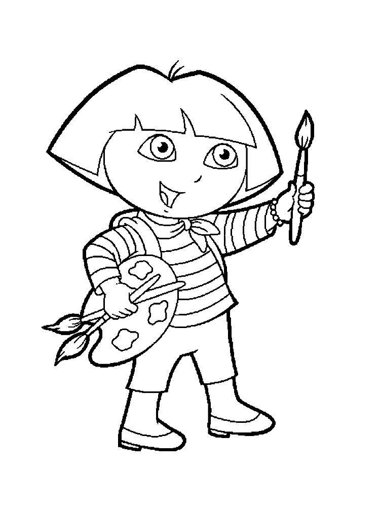 Dora la exploradora – dibujos infantiles para colorear, para niños y ...