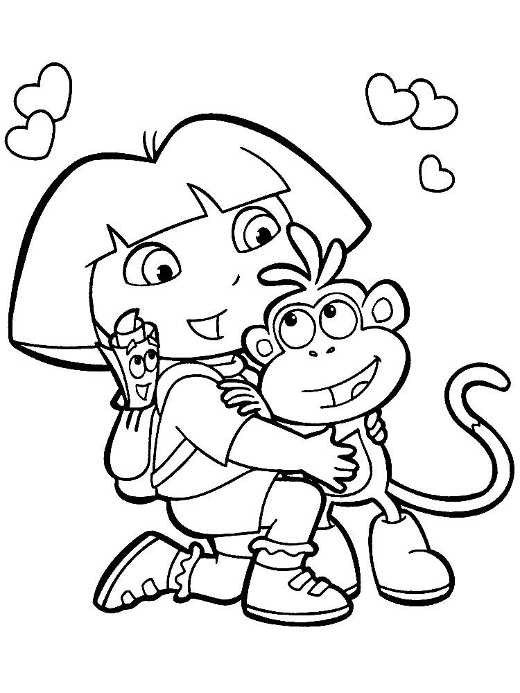 Gratuitos dibujos para colorear – Dora la exploradora ...