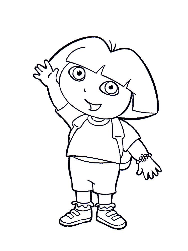 Dora la exploradora – descargar gratis dibujos para colorear.