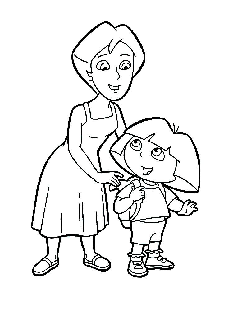 Útiles dibujos para colorear – Dora la exploradora, para chiquitines ...