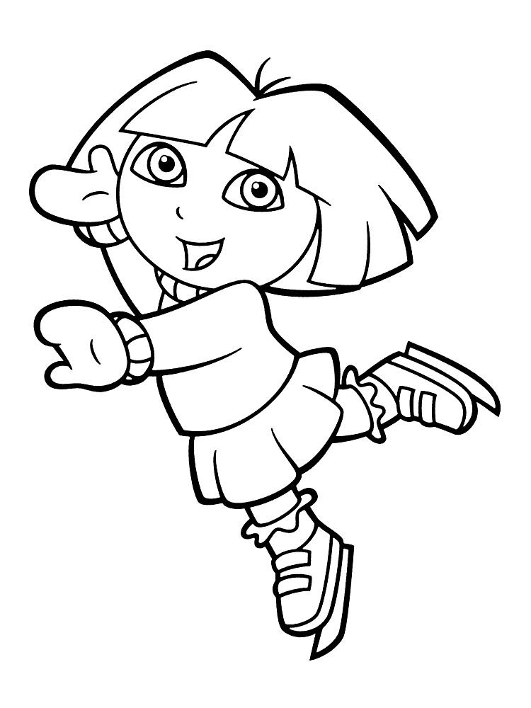 Imprimir imágenes dibujos para colorear – Dora la exploradora, para ...