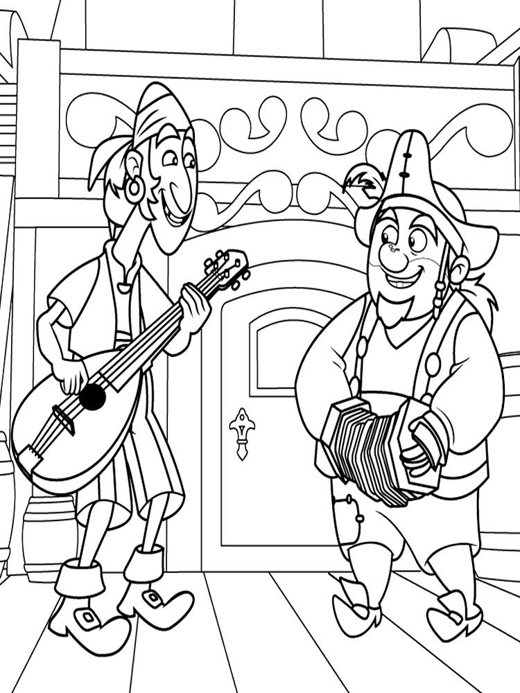 Dibujos para colorear – Jake y los Piratas de Nunca Jamas, imprimir ...