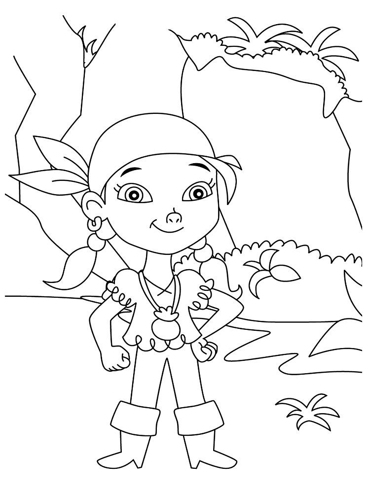 Descargar dibujos para colorear - Jake y los Piratas de Nunca Jamas.