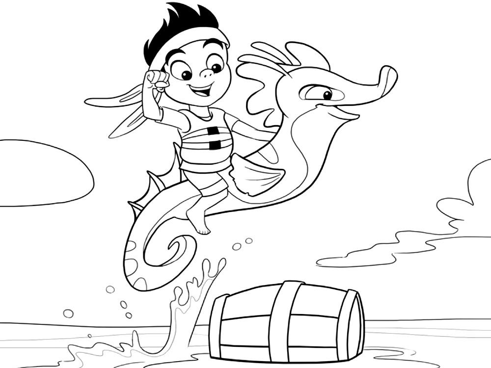 Dibujos para colorear – Jake y los Piratas de Nunca Jamas, para ...