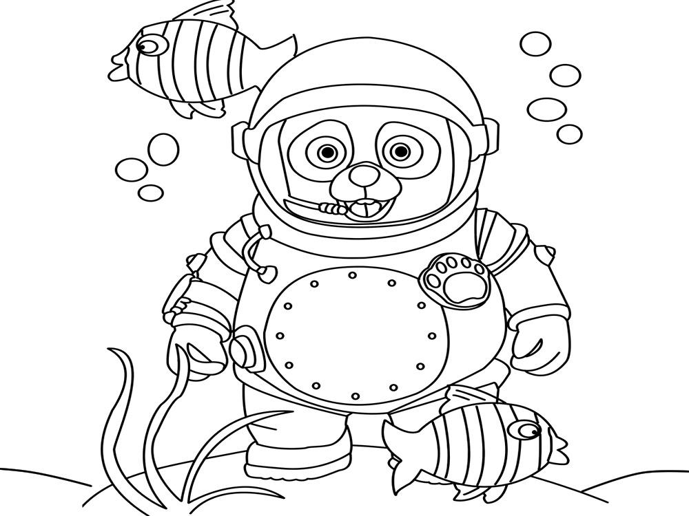 Descargar gratis dibujos para colorear – agente Especial Oso.
