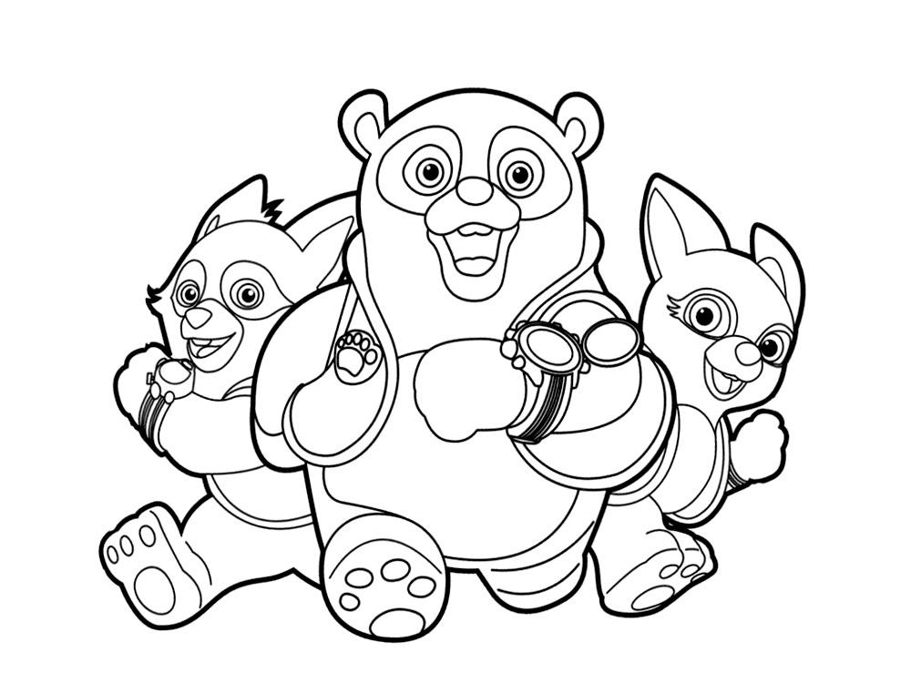 Dibujos para colorear – agente Especial Oso, para niños