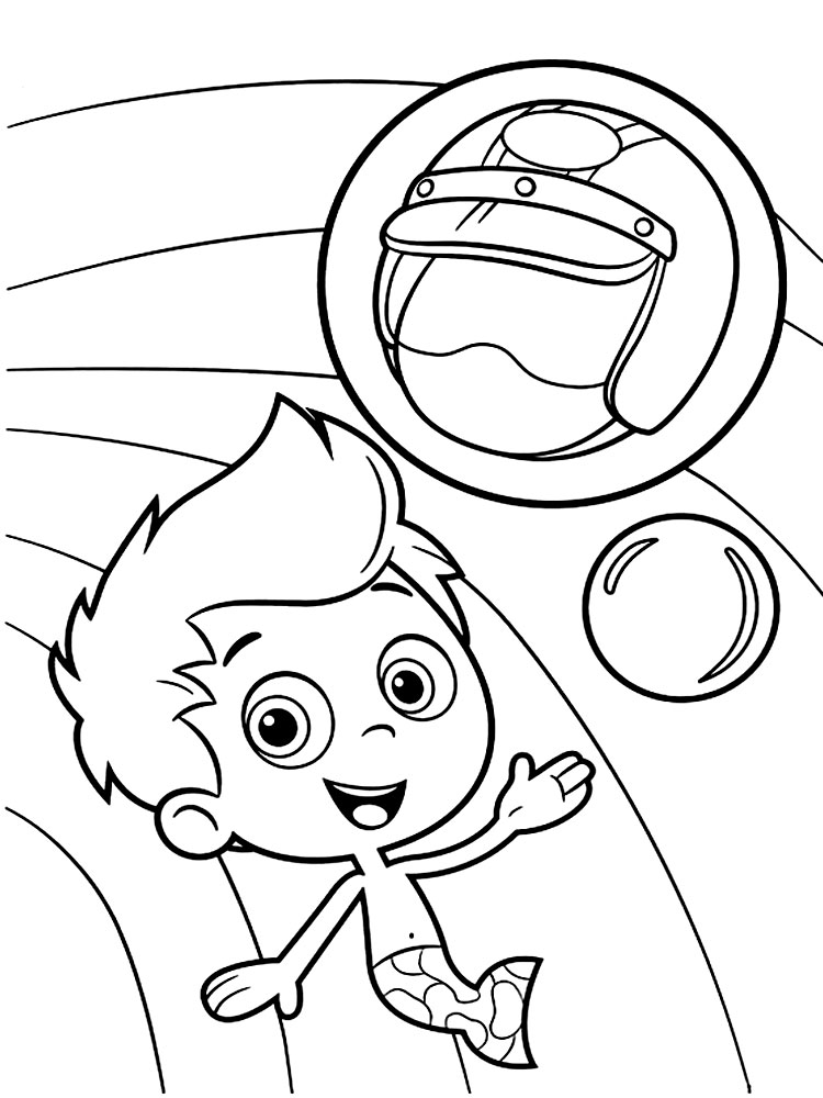 Imprimir gratis dibujos para colorear - Bubble Guppies