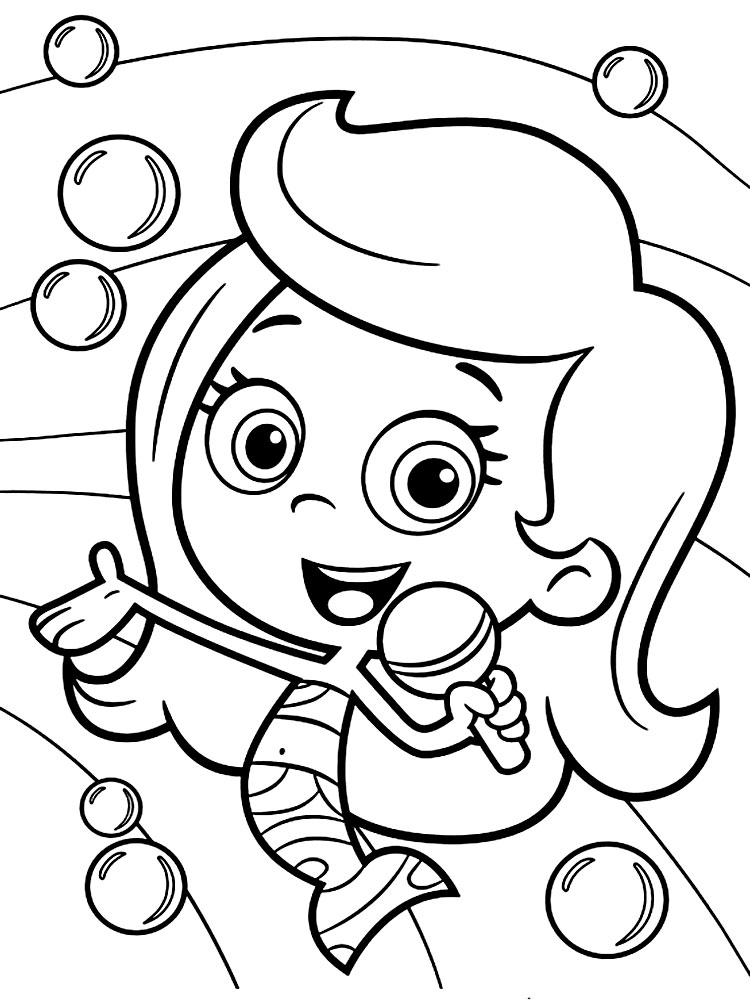 Bubble Guppies - dibujos infantiles para colorear