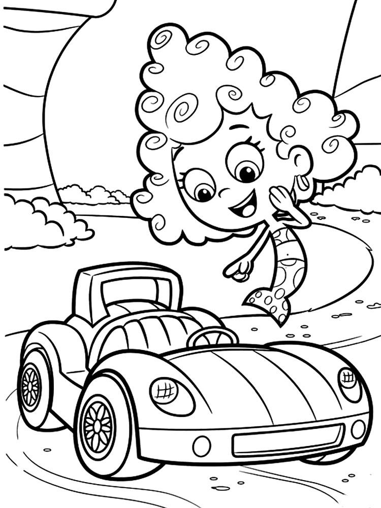 Descargar gratis dibujos para colorear  Bubble Guppies