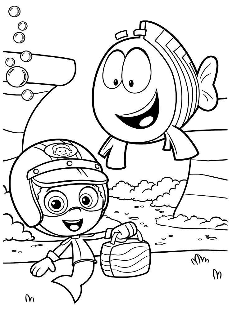 Imprimir imgenes dibujos para colorear  Bubble Guppies para