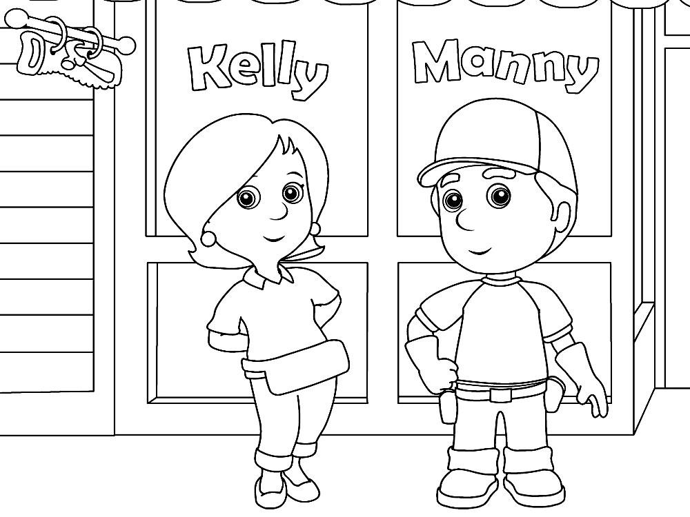 Dibujos infantiles para colorear – Manny manitas, para desarrollar ...