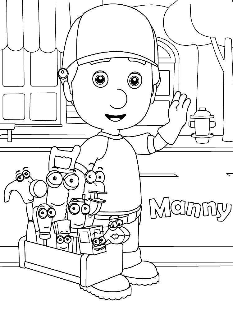 Descargar Dibujos Para Colorear Manny Manitas