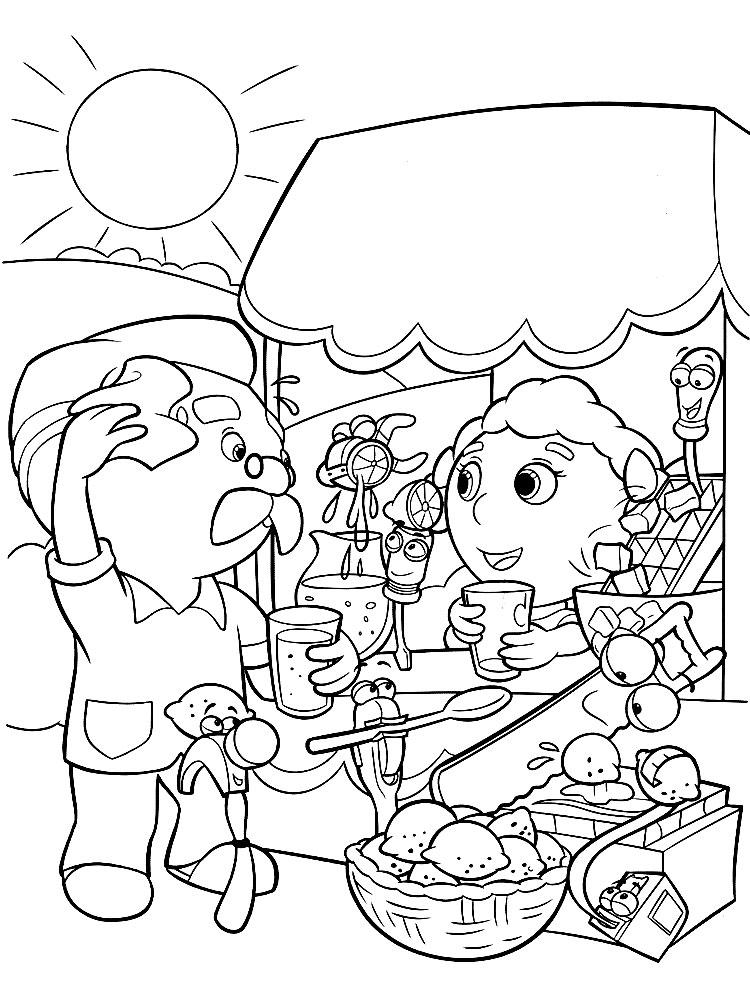 Dibujos Animados Para Colorear Manny Manitas Para Niños