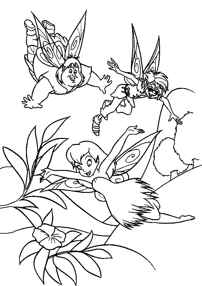 Dibujos para colorear  campanilla imprimir gratis