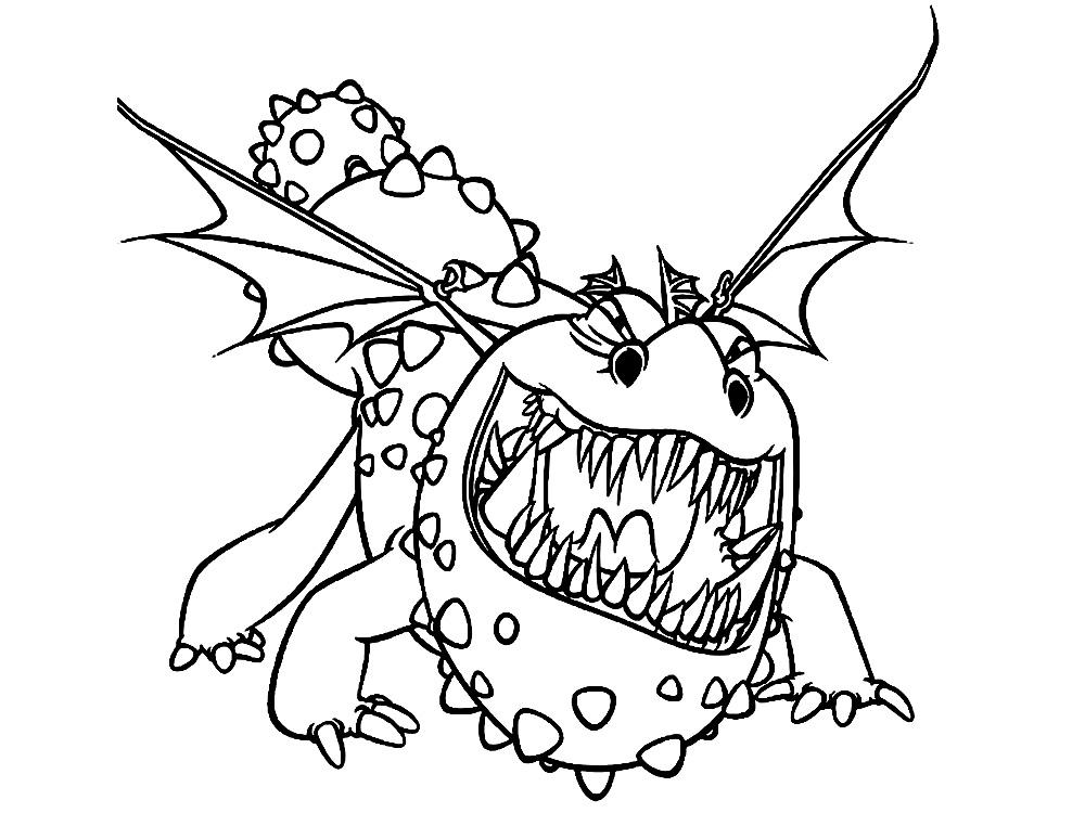 Dragón – dibujos infantiles para colorear