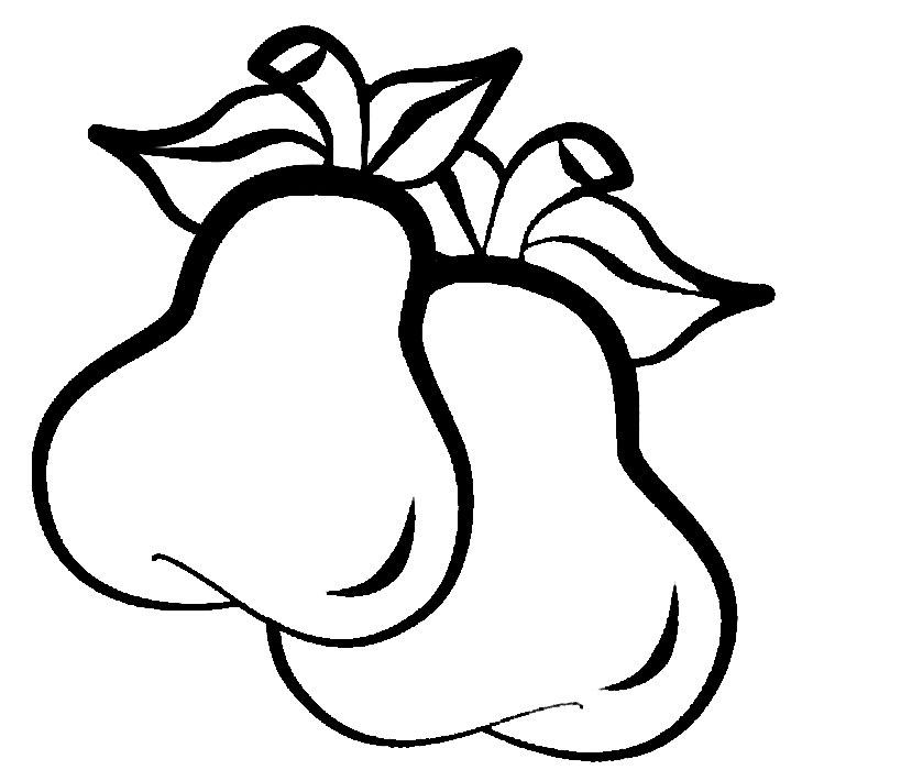 Dibujos para colorear - fruta, para niñas y niños