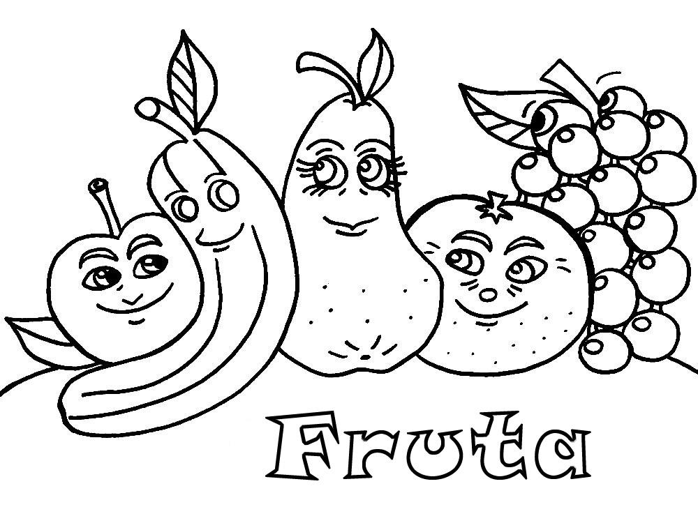 Único Colorear La Imagen De La Fruta Adorno - Dibujos Para Colorear ...
