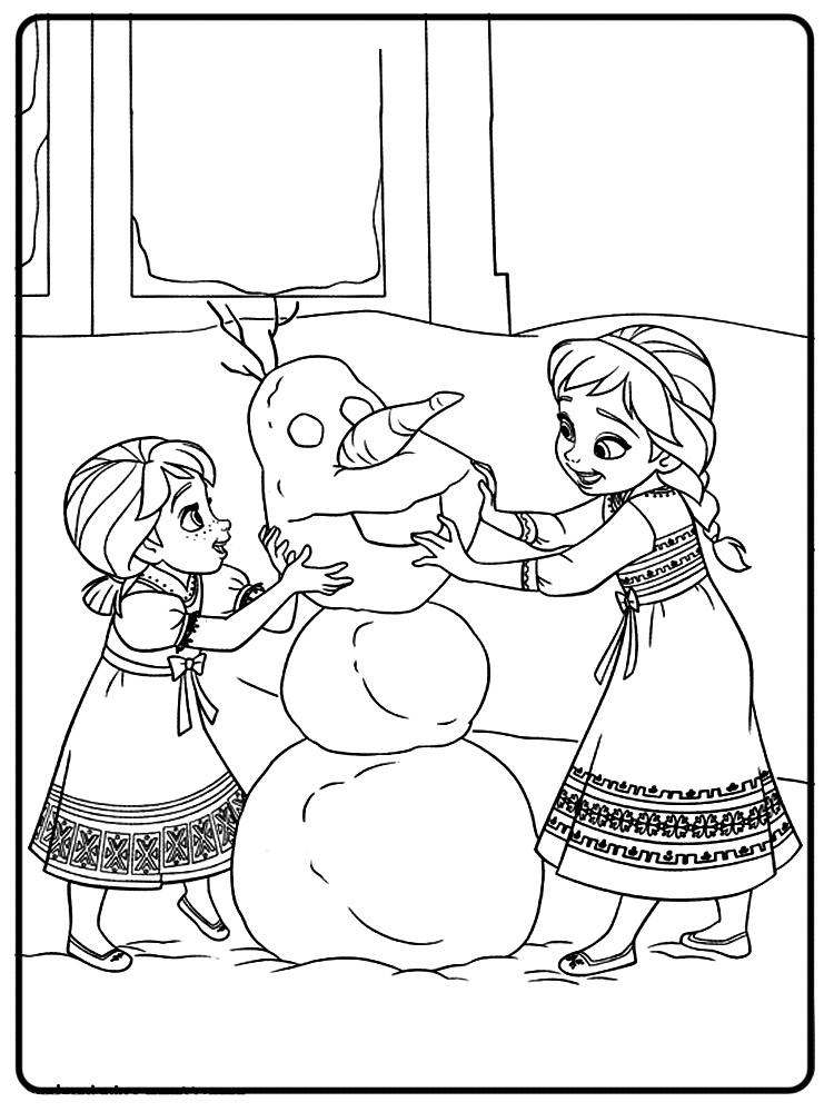 Descargar Dibujos Para Colorear Frozen