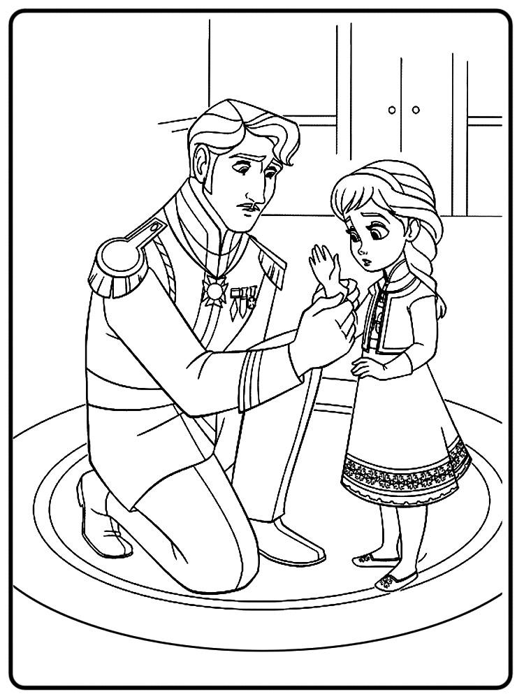 Dibujos Para Colorear Frozen Para Desarrollar La Generacion Menor