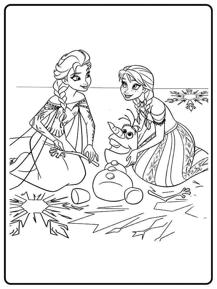Frozen – dibujos infantiles para colorear