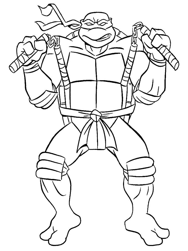 Descargar gratis dibujos para colorear – Tortugas Ninja.