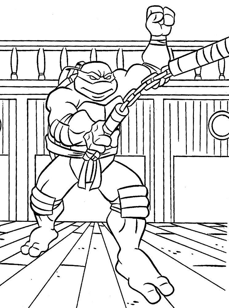 Hermosa Páginas Para Colorear De Tortugas Ninja Adorno - Dibujos ...