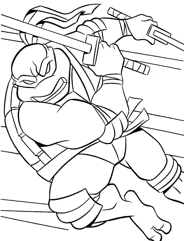 Dibujos Para Colorear Tortugas Ninja Para Desarrollar La