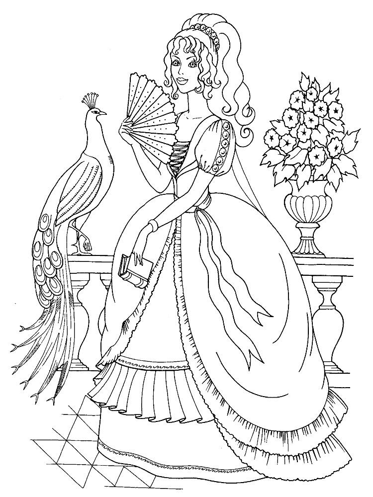Princesas – dibujos infantiles para colorear