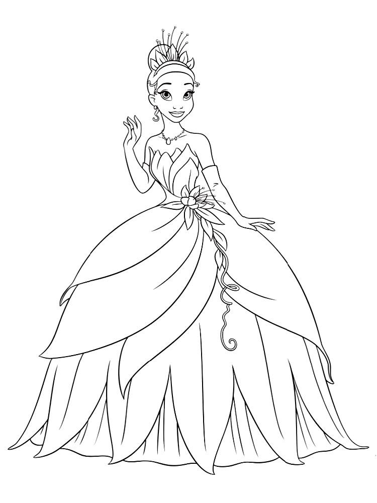 Dibujos Para Colorear Princesas Para Un Desarrollo