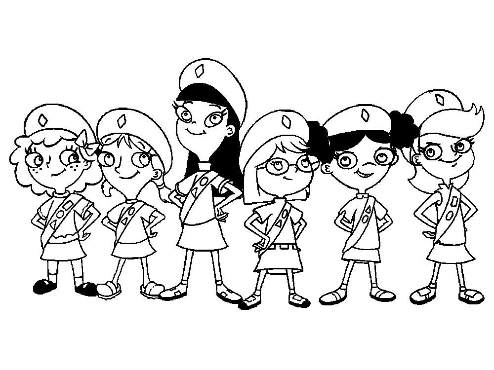 Phineas y Ferb – descargar gratis dibujos para colorear.