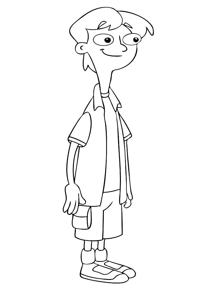 Gratuitos dibujos para colorear – Phineas y Ferb, descargar e imprimir