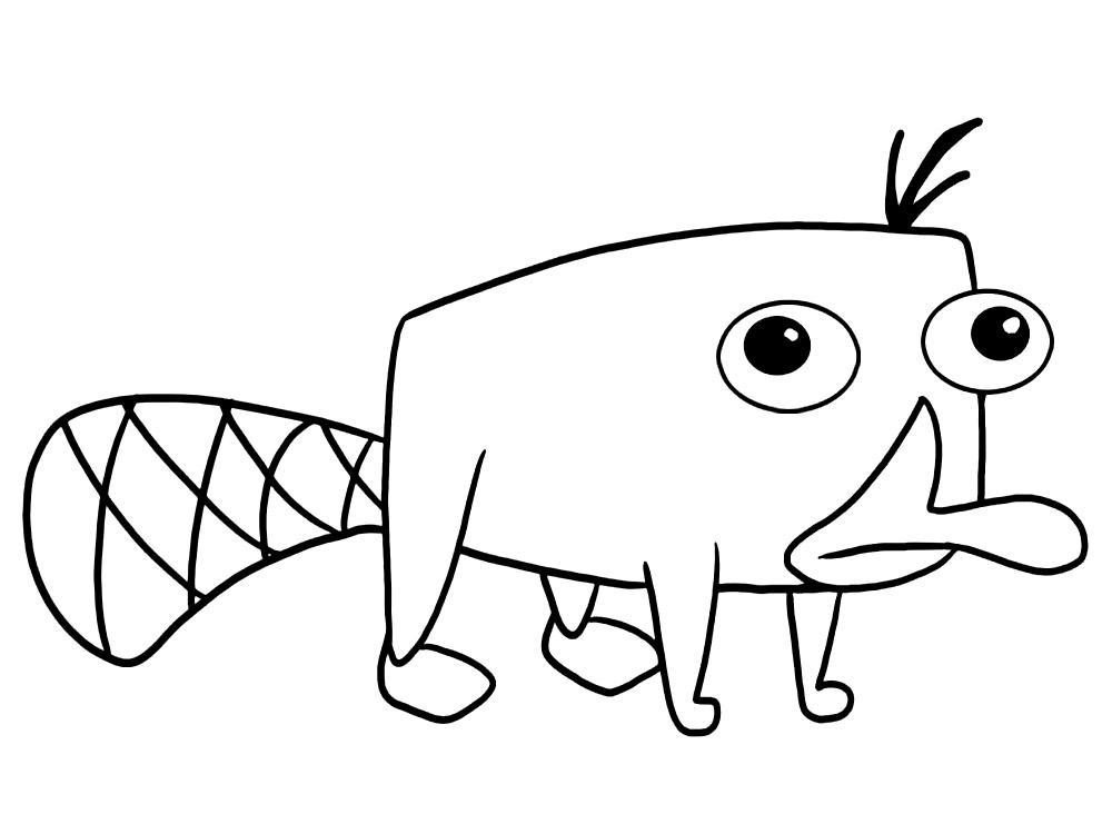 Dibujos infantiles para colorear – Phineas y Ferb, para desarrollar ...