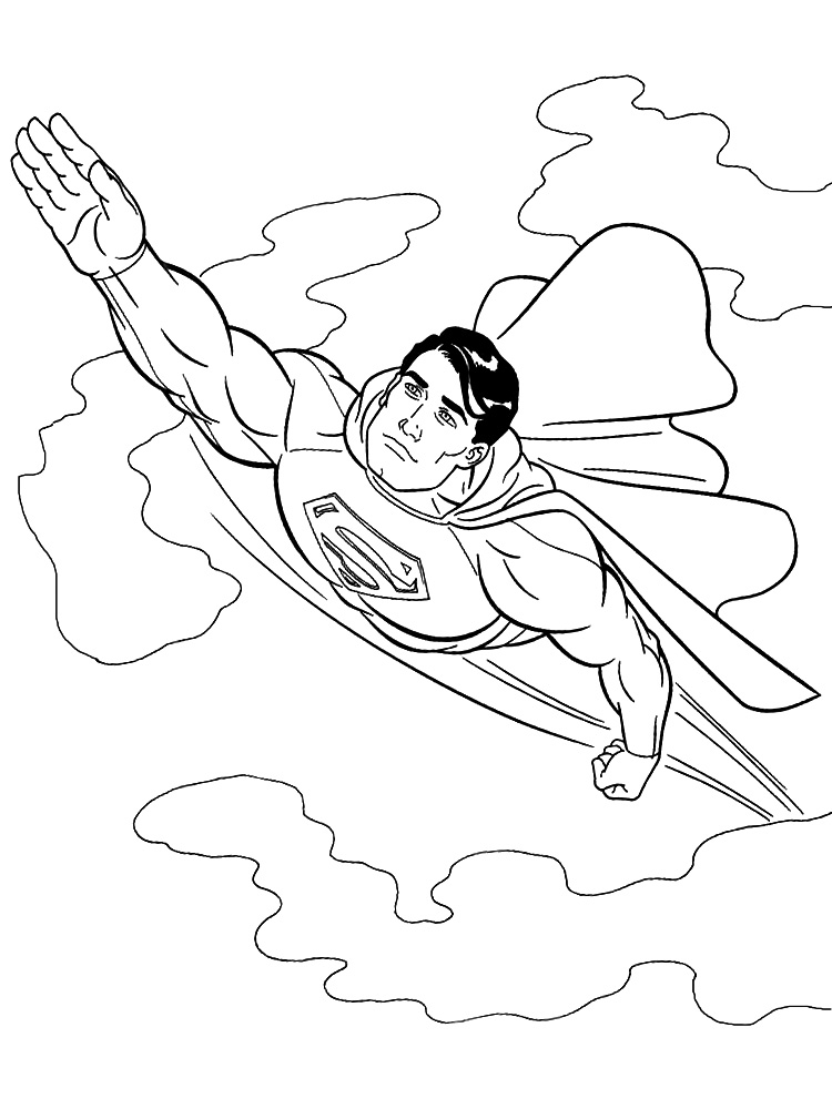 Dibujos Para Pintar De Superman Az Dibujos Para Colorear