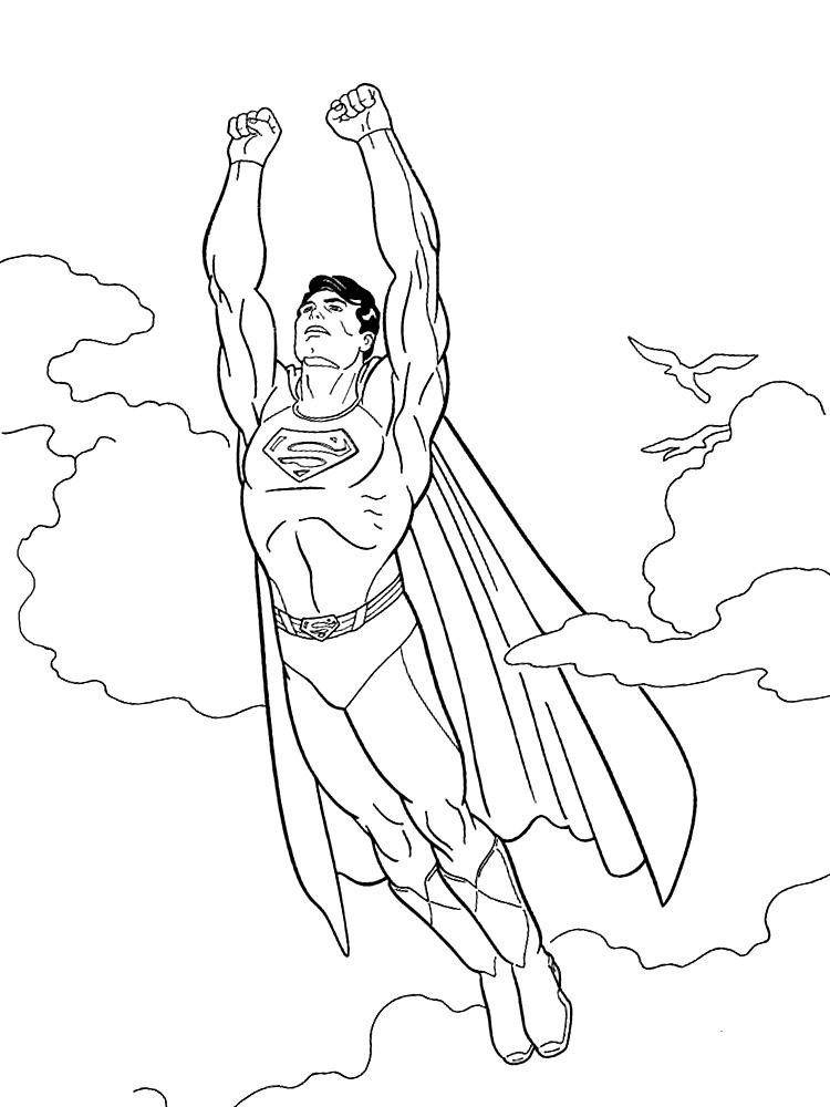 Dibujos para colorear - Superman.