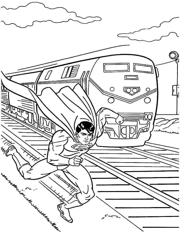 Superman – descargar gratis dibujos para colorear.
