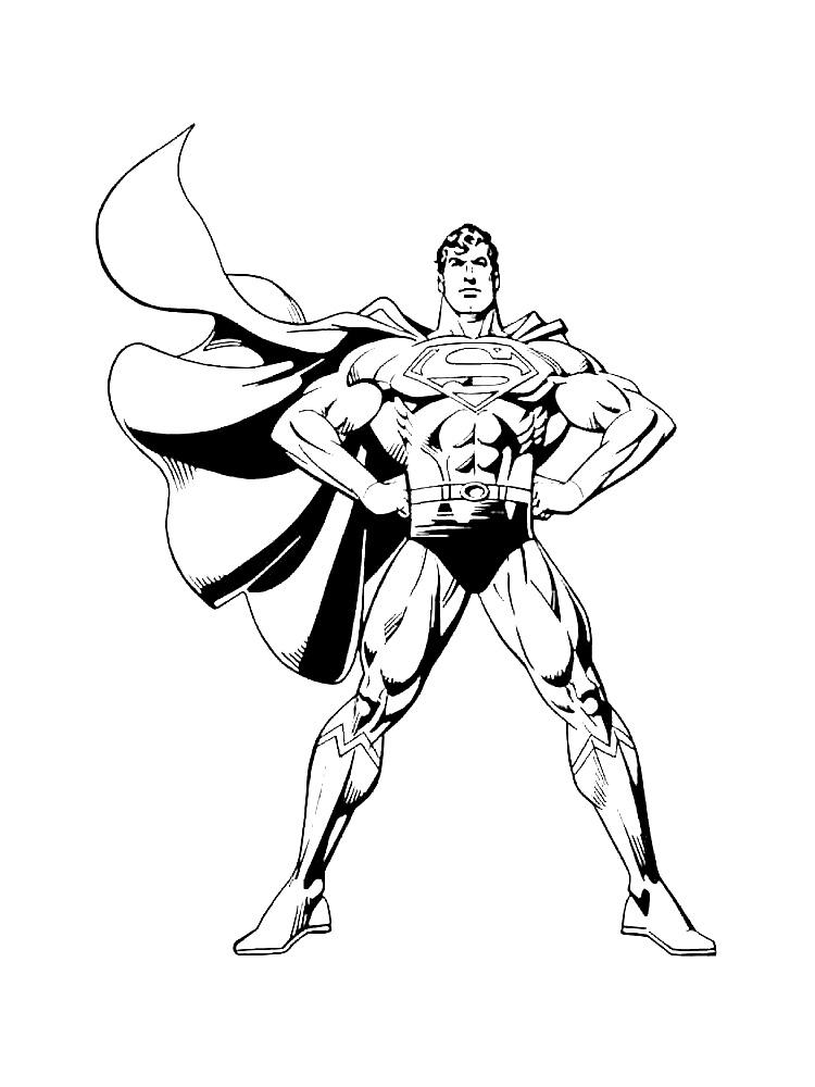 Dibujos para colorear – Superman, para niñas y niños