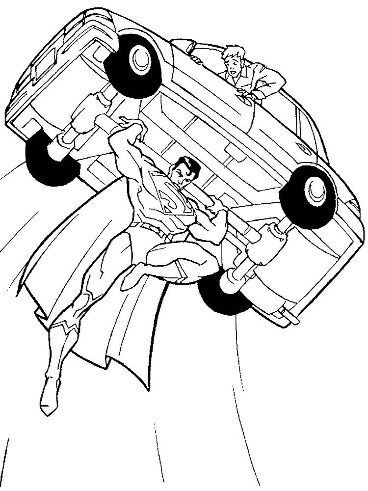 Superman – dibujos animados infantiles, para colorear