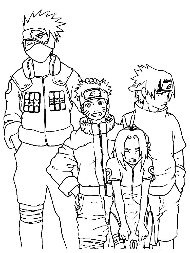 Dibujos Infantiles Para Colorear Naruto Para Desarrollar