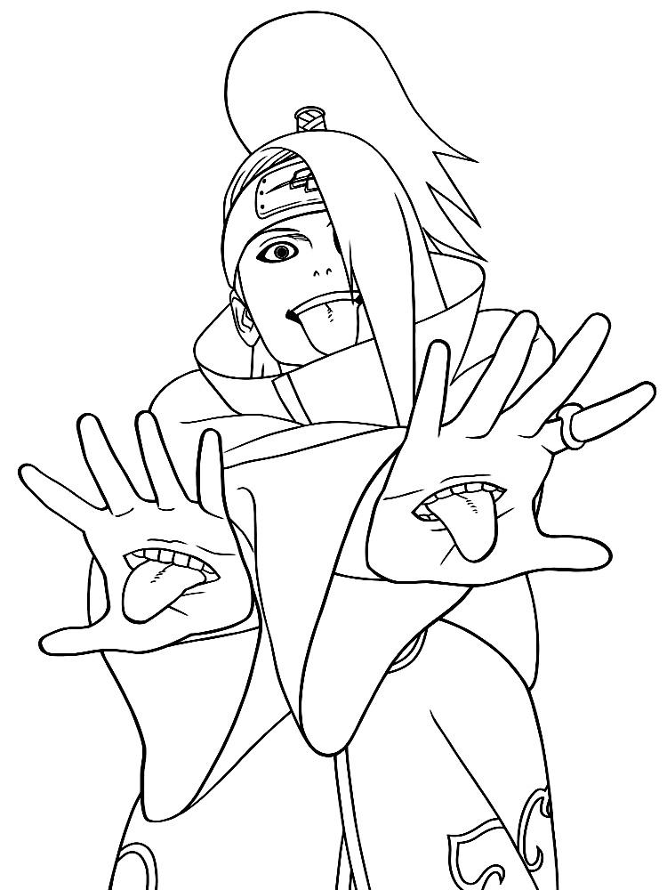 Algo útil para niñas y niños – dibujos para colorear – Naruto