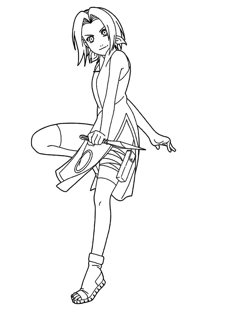 Descargar gratis dibujos para colorear – Naruto.