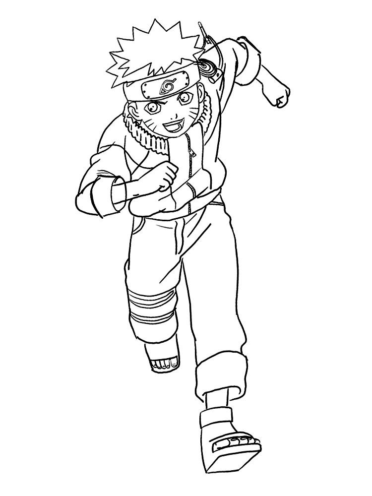 Dibujos Para Colorear Naruto Para Niños